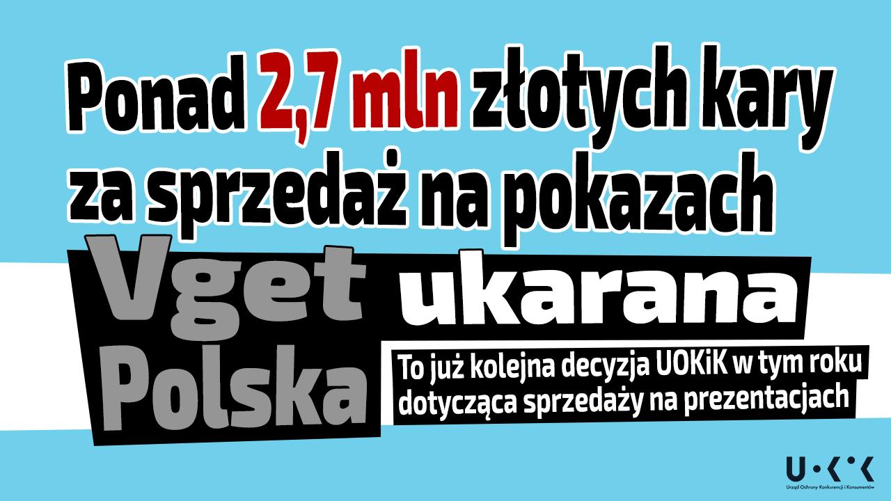 Ponad 2,7 mln złotych kary za sprzedaż na pokazach