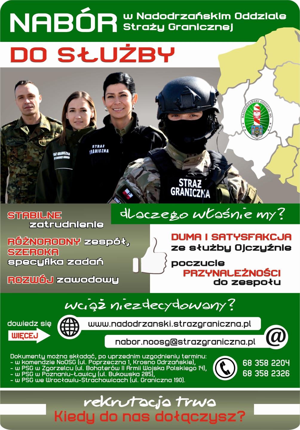 Duma i satysfakcja ze służby Ojczyźnie. Trwa nabór do służby w Straży Granicznej