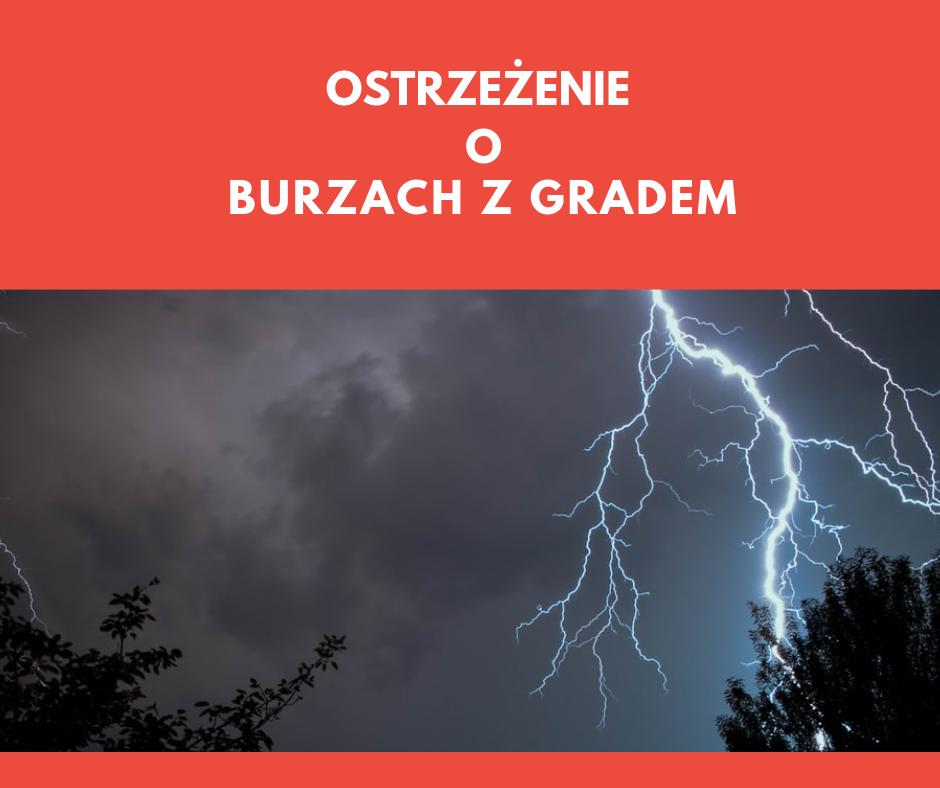 Ponowne ostrzeżenie o burzach z gradem