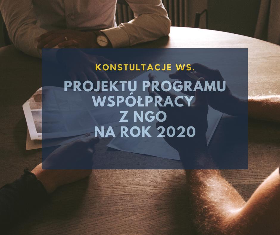Konsultacje ws. Programu Współpracy Powiatu Zgorzeleckiego z Organizacjami Pozarządowymi na rok 2020