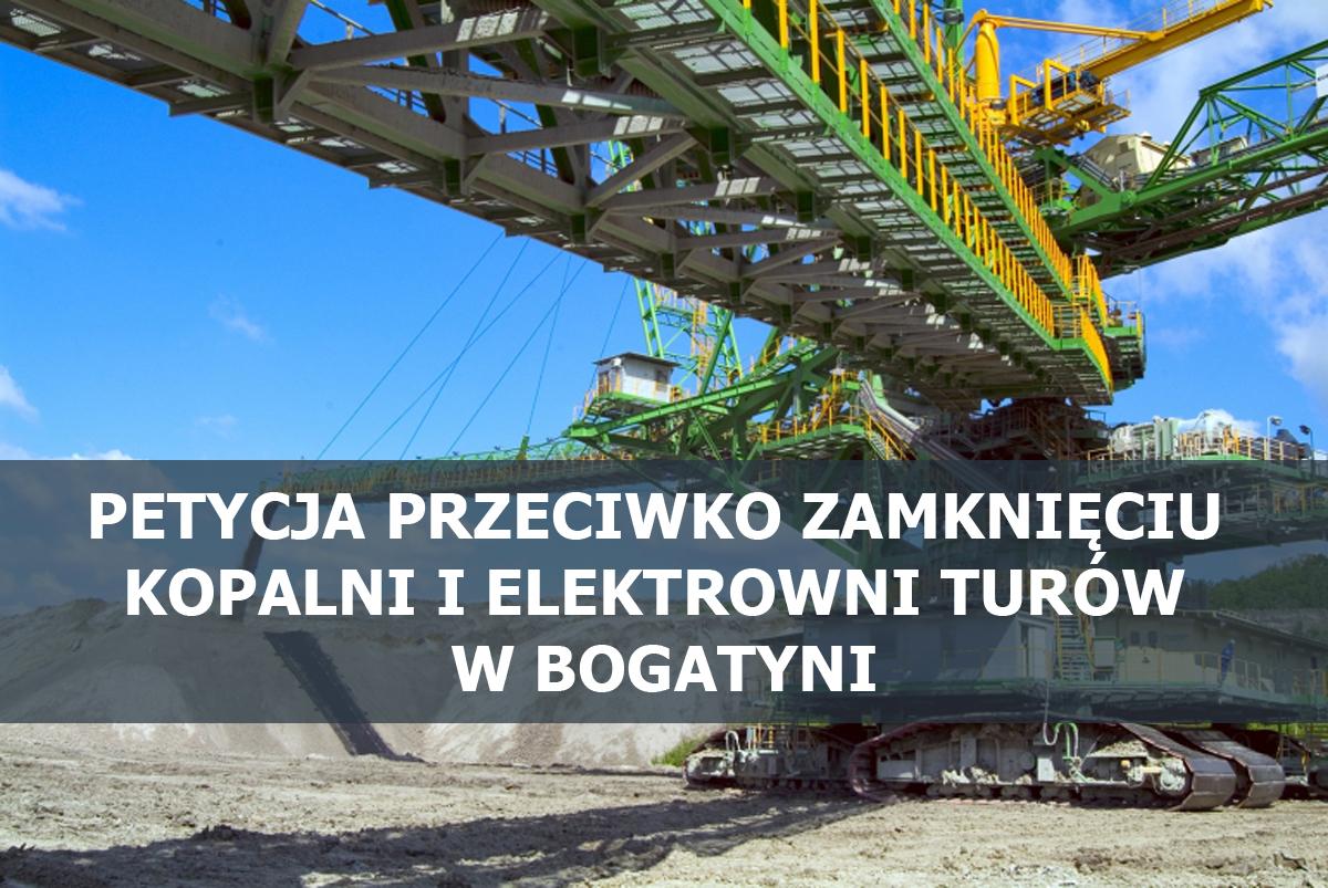 Petycja przeciwko zamknięciu kopalni i elektrowni Turów