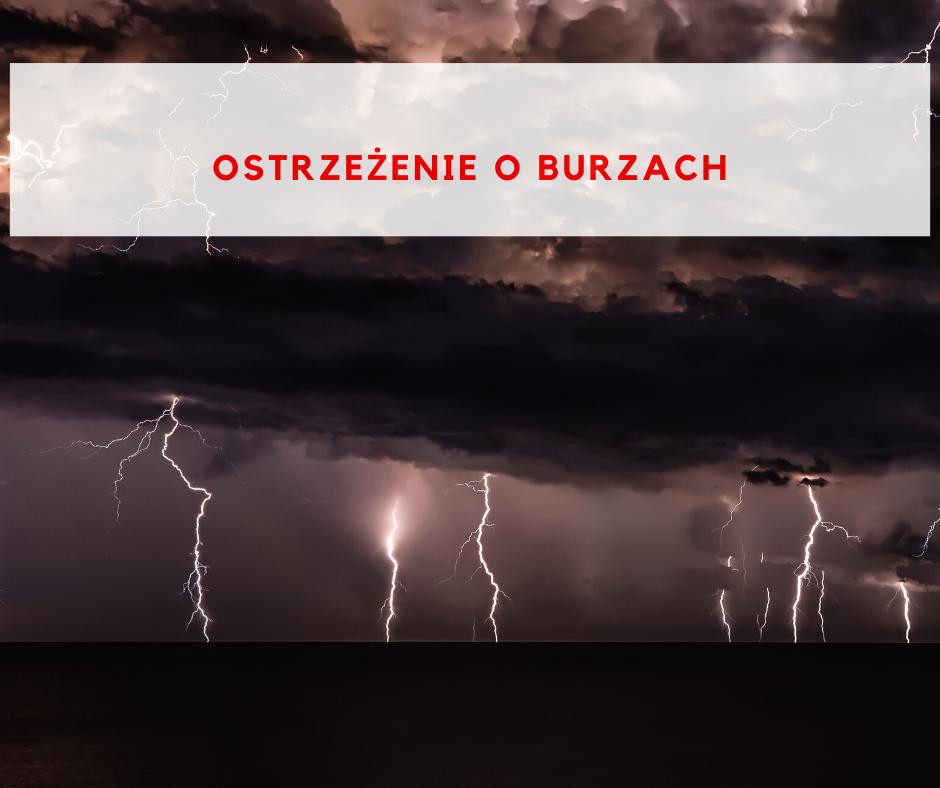 Ostrzeżenie meteorologiczne – burze