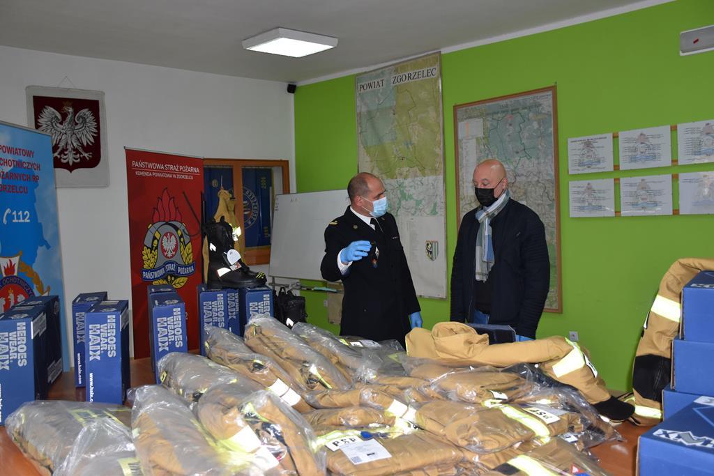 Podziękowania Komendanta Powiatowego PSP w Zgorzelcu