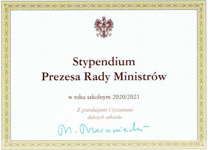 Stypendia Premiera dla uczniów szkół powiatowych