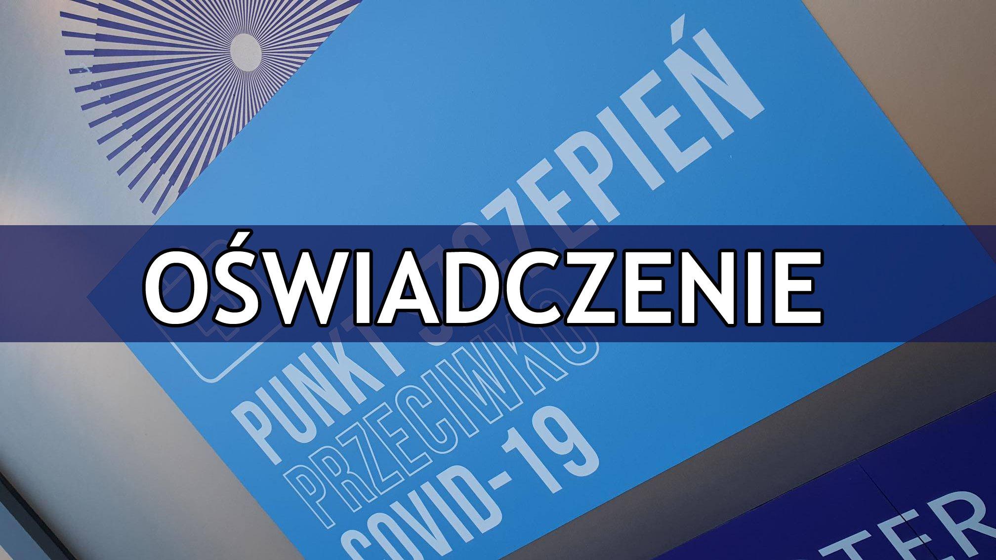 Oświadczenie Przewodniczącego Zarządu Powiatu Zgorzeleckiego w sprawie odwołania Dyrektora WS – SPZOZ w Zgorzelcu