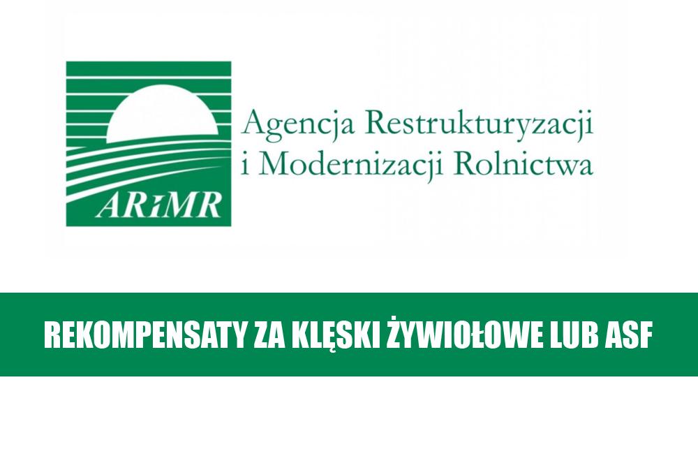 Rekompensaty za klęski żywiołowe lub ASF: wnioski od 11 marca