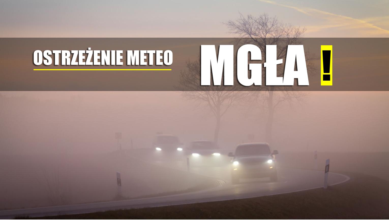Ostrzeżenie o gęstej mgle