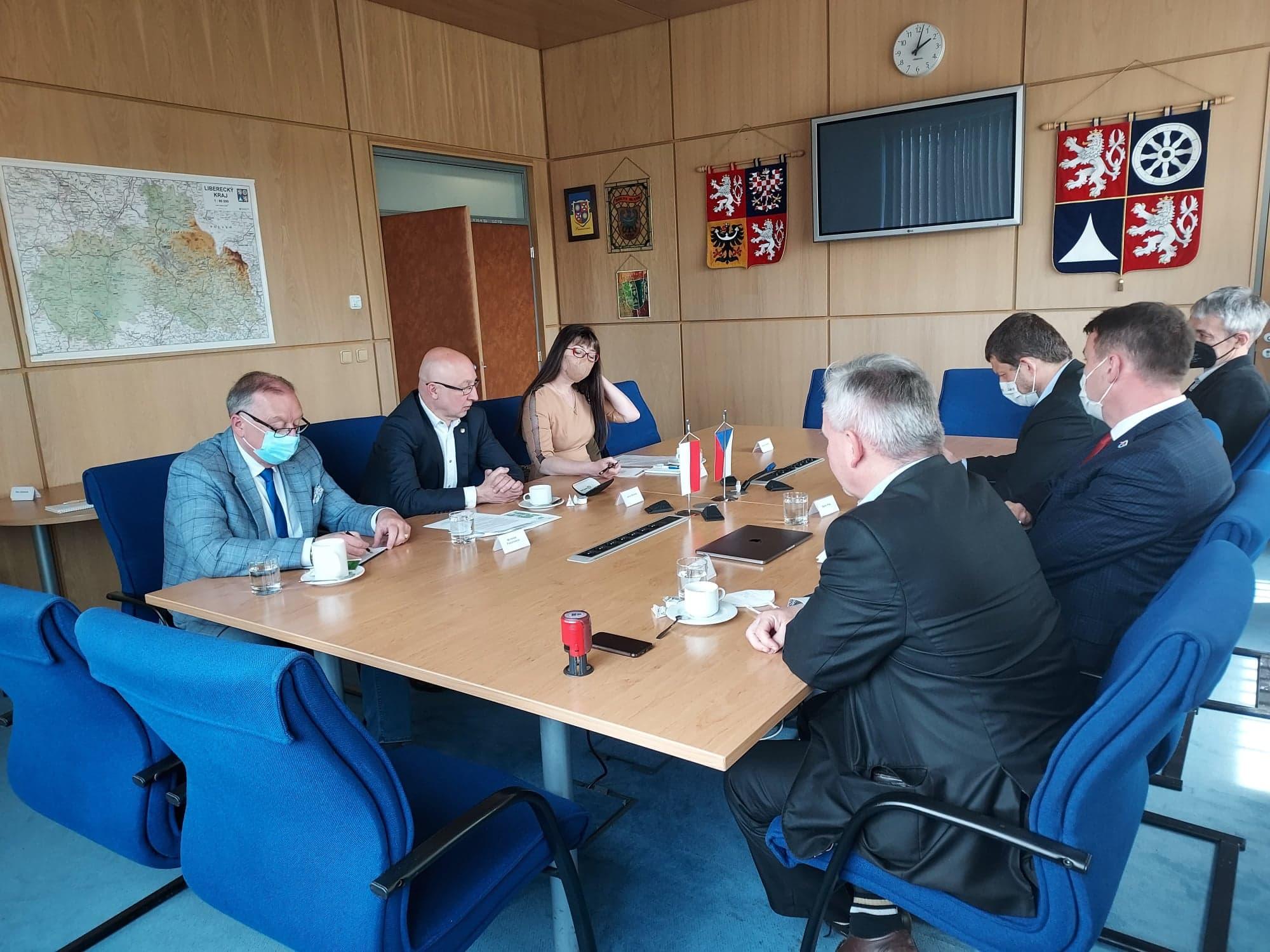 Spotkanie Starosty Zgorzeleckiego z Hejtmanem Kraju Libereckiego w sprawie kopalni Turów