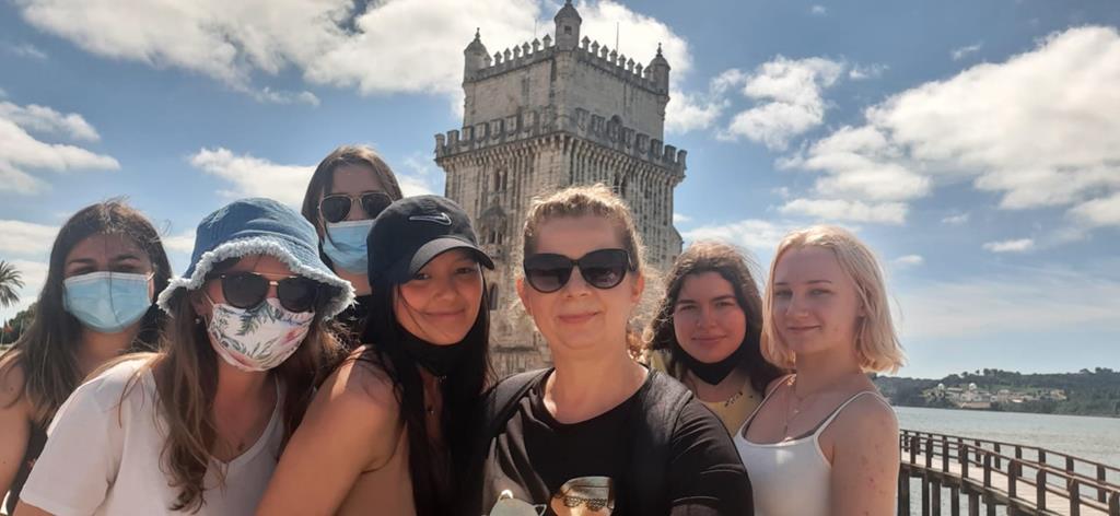 """Uczniowie """"Emilki""""na praktykach zawodowych w Portugalii"""