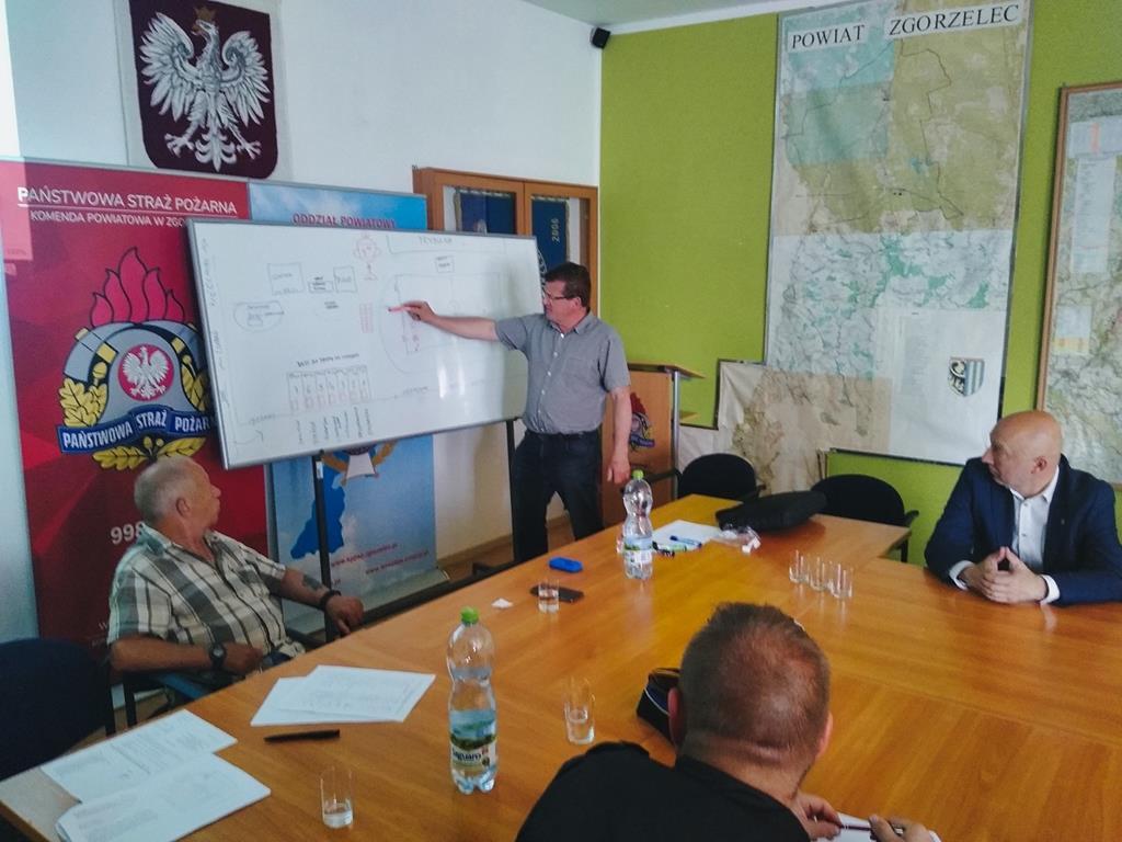 Posiedzenie Zarządu Oddziału Powiatowego ZOSP RP w Zgorzelcu
