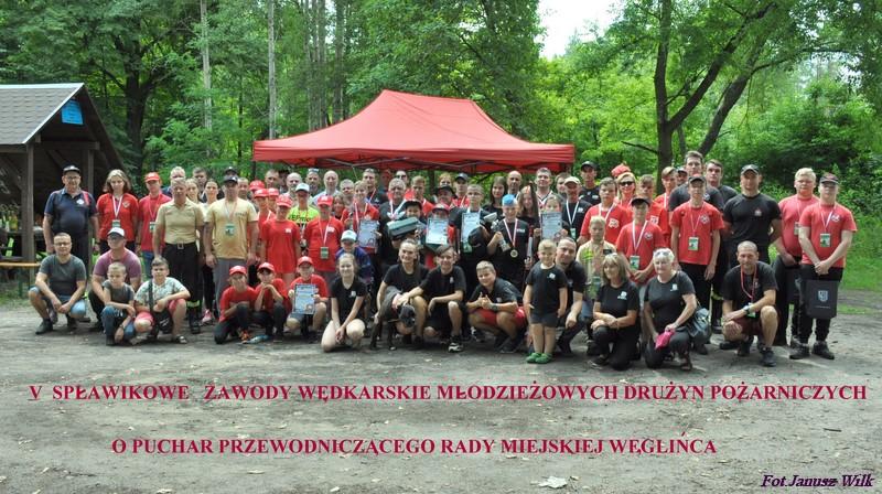 V spławikowe zawody wędkarskie drużyn Młodzieżowych Drużyn Pożarniczych.