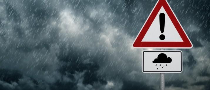 Ostrzeżenie meteorologiczne – silny deszcz z burzami