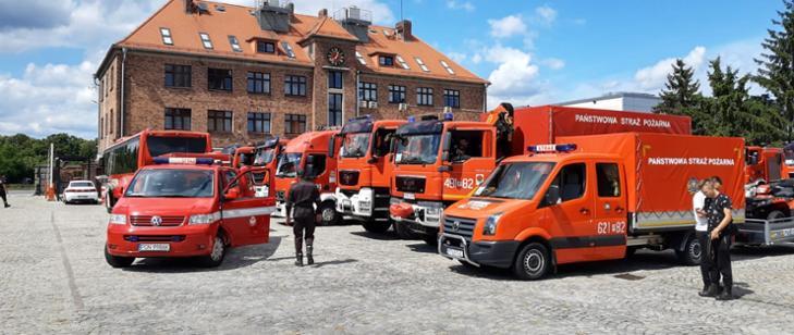 Strażacy z Komendy Powiatowej Państwowej Straży Pożarnej ze Zgorzelca jadą z pomocą do Grecji