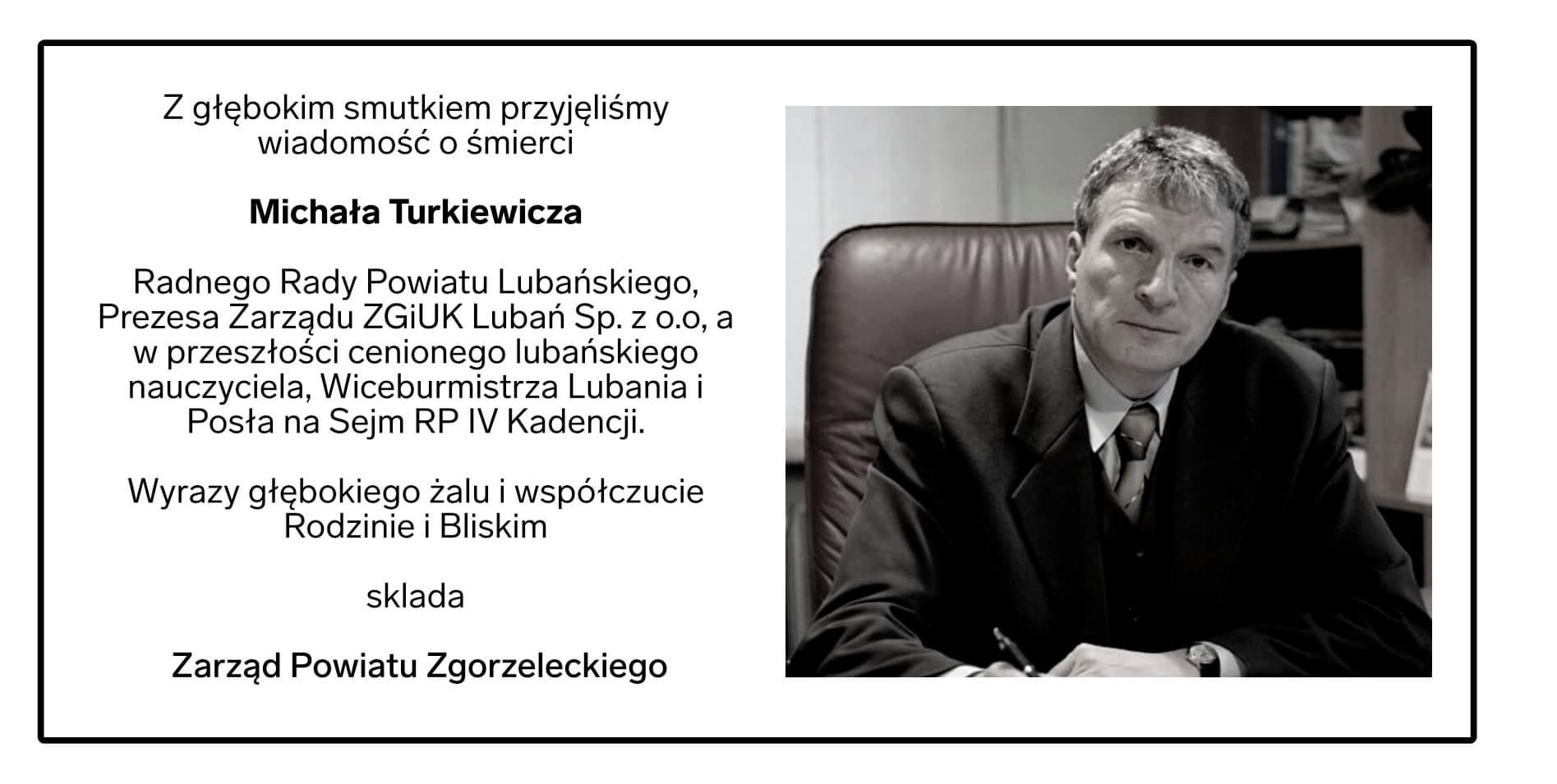 Nie żyje Michał Turkiewicz