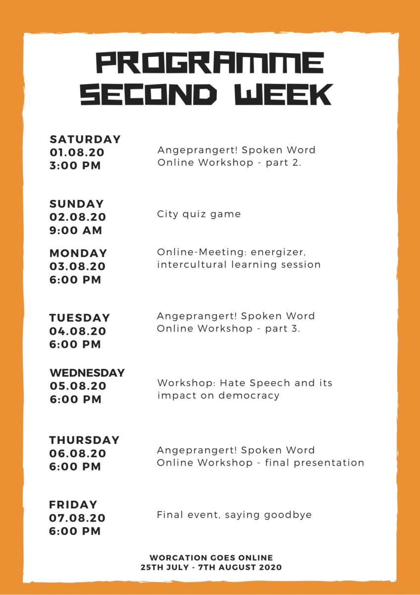 program 2. tydzień