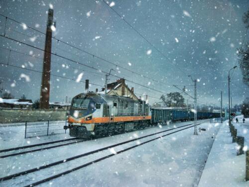 Urban K Zimowy pociąg w Pieńsku